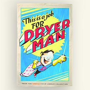 'Dryer Man' Tea Towel