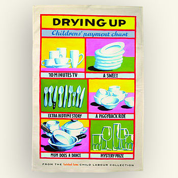 Payment Chart Tea Towel Gift For Kids