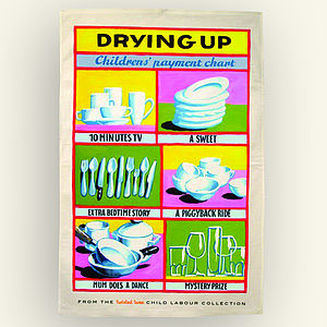 'Child's Payment Chart' Tea Towel - kitchen linen