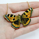 Sienna Wooden Butterfly Necklace
