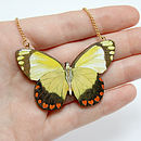 Isobel Wooden Butterfly Necklace