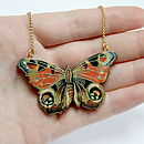 Clara Wooden Butterfly Necklace