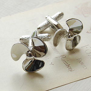 Propellor Cufflinks - men's jewellery
