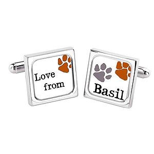 Personalised Dog Name Cufflinks