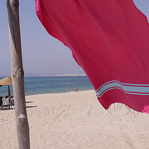 Bi Colour Beach Hammam Towel - shop by room