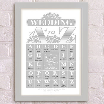 A-Z Wedding Grey