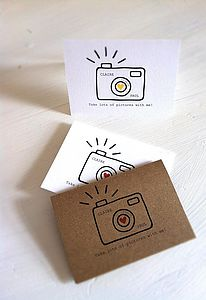 Pack Of Six Camera Cards - wedding stationery