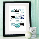 Personalised Multi Memorable Date Print Grey
