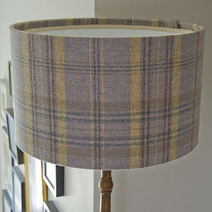 Handmade Plaid Wool Lampshade - lamp bases & shades