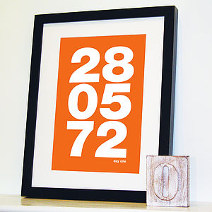 Personalised Memorable Date Bold Print