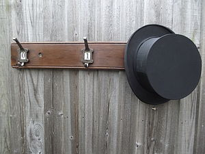 Number Hat And Coat Hook Board