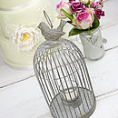 Vintage Style Bird Cage Tea Light Holder