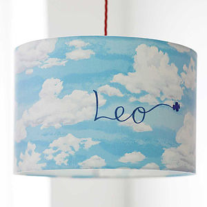 Personalised Clouds Lampshade - baby's room