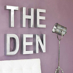 Industrial Metal Letter - children's room