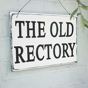 Personalised Vintage Style Wood House Sign - outdoor decorations