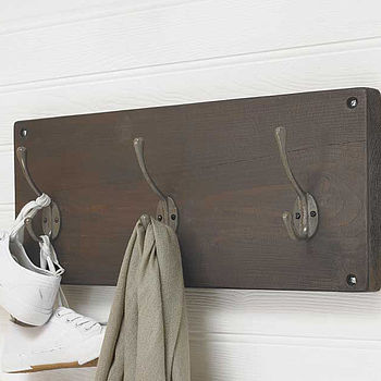 Reclaimed Wooden Victorian Style Coat Hook (Dark Oak)
