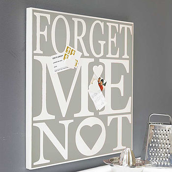 Magnetic Noticeboard 'Forget Me Not'