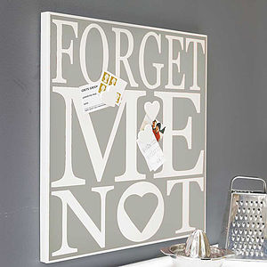 'Forget Me Not' Magnetic Noticeboard - new home gifts