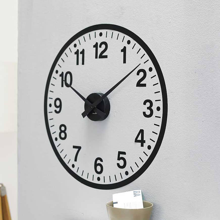 Wall Art Decals Clock : Working clock wall sticker by spin collective