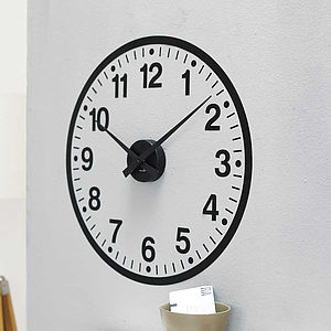 Working Clock Wall Sticker - wall stickers by room