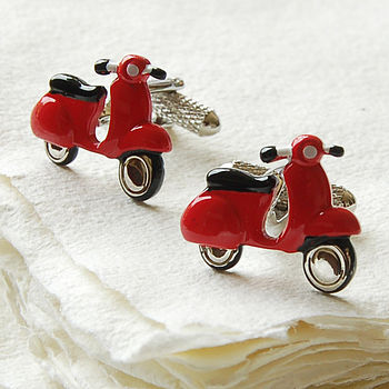 Red Scooter Cufflinks