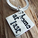Personalised Three Little Words Keyring
