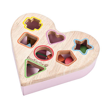 Toy Shape Sorter Heart Shaped