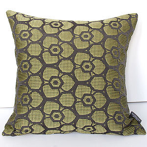 Spring Green Flower Jacquard Cushion