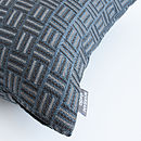 Checks Jacquard Cushion