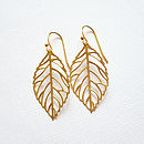 Gold Leaf Earrings: short ball ear wires