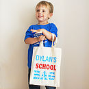 Personalised Child's School Shopper Bag