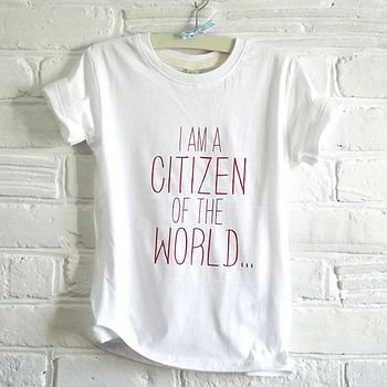 citizen of the world tee red