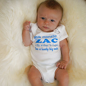Personalised 'All about them' Baby Body Suit