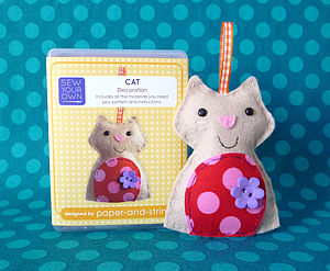 Cat Mini Kit - sewing & knitting