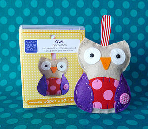 Owl Mini Kit - sewing & knitting
