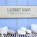 Vintage Style Wooden 'Laundry Room' Sign