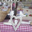 Shabby Chic Love Birds Heart Decoration