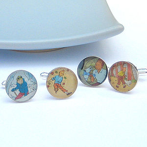 'Comic Capers' Vintage Comic Cufflinks - men's accessories