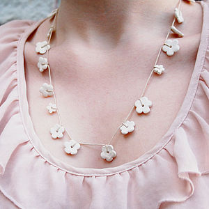 Ceramic Daisy Chain Necklace - necklaces & pendants