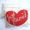 'Just Married' Personalised Wedding Cushion