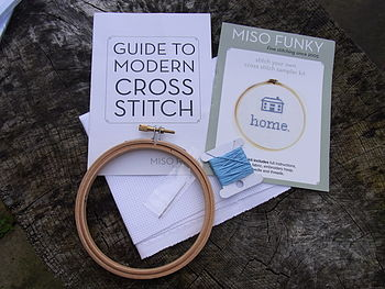 'Home' Cross Stitch Sampler Kit