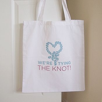 'We're Tying The Knot' Wedding Tote Bag