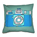 Camera Holga Cushion Blue