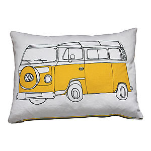 Campervan Cushion Yellow