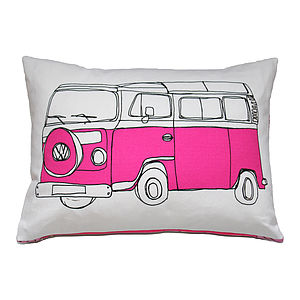 Campervan Cushion In Pink