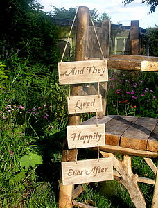 'Happily Ever After' Rustic Wooden Sign