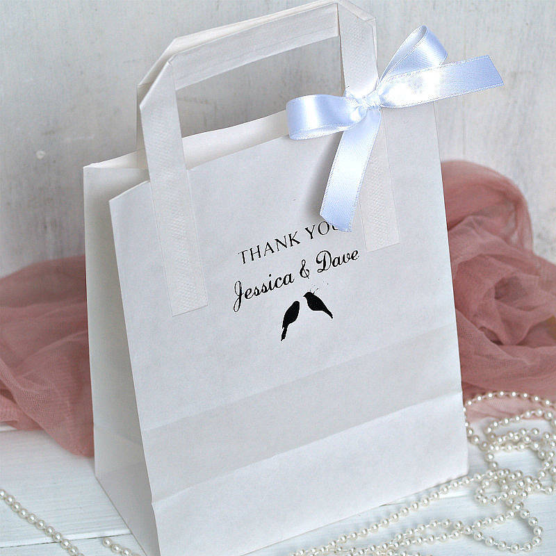 18 Homepage Beautiful Day Personalised Wedding Favour Paper Bag