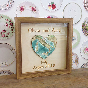 Personalised And Bespoke Map Heart
