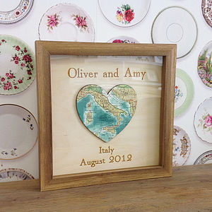 Personalised And Bespoke Map Heart - art & pictures