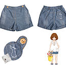 Child's Boo Denim Shorts